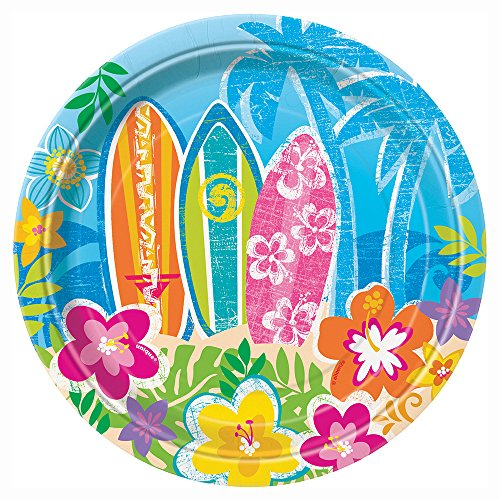 Unique Party Supplies Hawaiian Beach Party Teller, 17,1 cm, 8 Stück