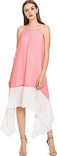 Milumia Women's Color-Block Chiffon Loose Long Maxi Dress