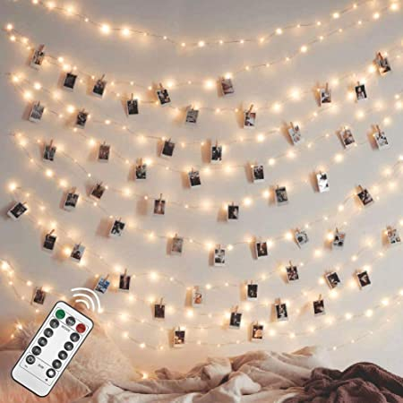 Twinkle Star 200 LED 66FT Fairy String Lights, Firefly Lights USB Powered with Remote Control, 8 Modes String Lights for Bedroom Wedding Party Christmas Tree Decorations, Warm White