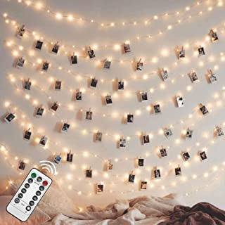 Twinkle Star 200 LED 66FT Fairy String Lights, Firefly Lights USB Powered with Remote Control, 8 Modes Silver Wire String ...