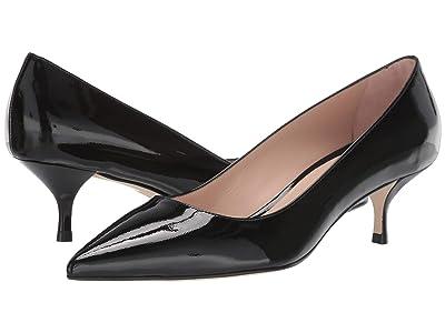 Stuart Weitzman Cindy 45 Kitten Heel (Black Patent) Women