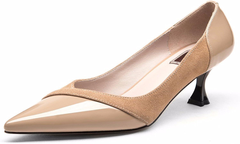HBDLH-Damenschuhe Herbst Pendler-Schuhe Medium und Wies Schuhe Lack Leder Leder Leder Farbe Damenschuhe.  751f1e