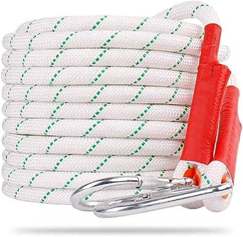 Cordes Corde de sécurité, avec fil d'acier, peau de corde double, épaisseur 20 mm, matériau en polyester et polypropylène, poids de support de 1100 kg, corde optionnelle de différentes dimensions équi