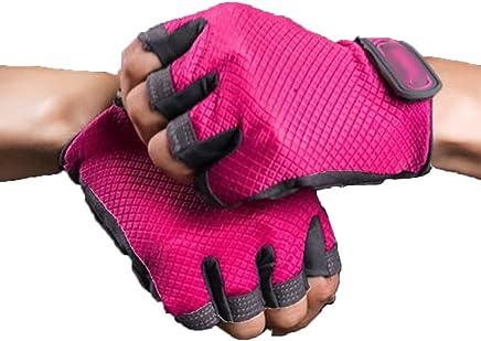 RenShiMinShop Rote feuchtigkeitsBesteändige Atmungsaktive Atmungsaktive Atmungsaktive Handschuhe der Weiblichen Eignung, Sporttraining Rutschfeste Halbe Fingerhandgelenkhandschuhe B07FF5HTCR  | Deutschland Shops  ef5bd2