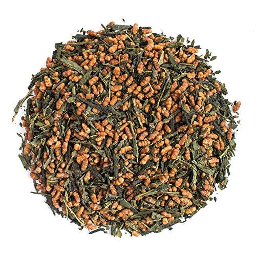 Moya thé vert organique Genmaicha   100 g de Sencha avec du Riz   Thé du Japon   Convient aux végétaliens et aux végétariens   Emballé dans un sac refermable