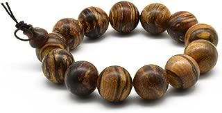 Unisex Natural Qinan Agarwood Prayer Beads Tibetan Buddhism Mala Bracelet Necklace Beads