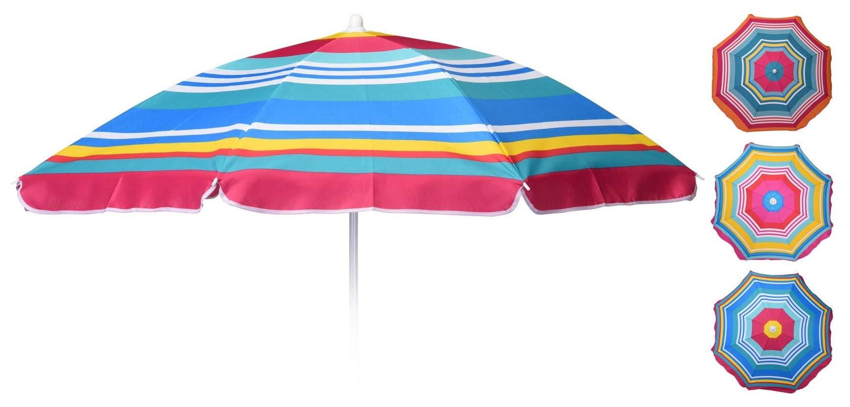 ® Strandschirm Ø140cm Creme Sonnenschirm Schirm Gartenschirm UV Schutz casa.pro