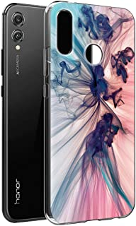 ZhuoFan Funda Honor 8X, Cárcasa Silicona 3D Transparente con Dibujos Diseño Suave Gel TPU [Antigolpes] de Protector Bumper Case Cover Fundas para Movil Huawei Honor 8X - 6,5 Pulgadas (Humo Colorido)