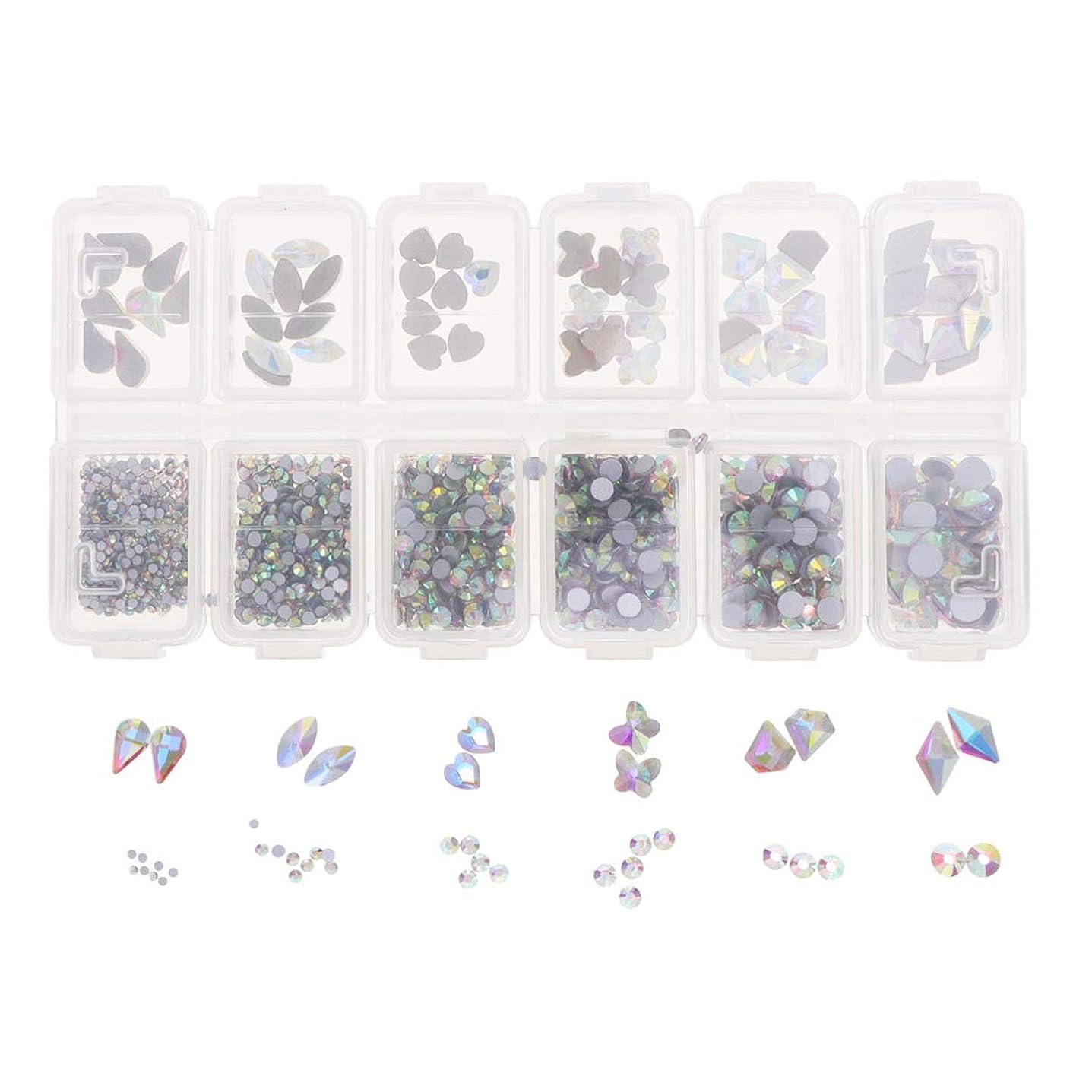 どれか傀儡動力学Lurrose 1788ピースネイルアートラインストーンキット12コンパートメントdiyラインストーンクリスタルダイヤモンドビーズ用女の子ネイルアート装飾用品