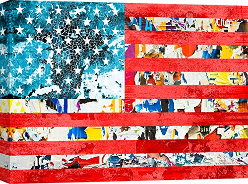 Art Print Cafe – Impression sur Toile - Modern Pop Art – Pat Simon, United States of Pop – 60x40 cm