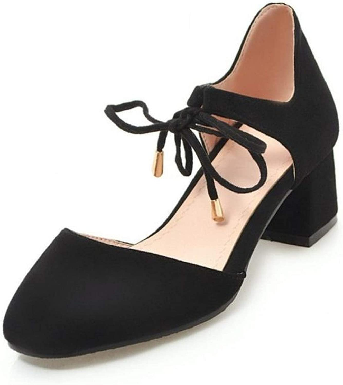 Alex Kuts Women High Heel Sandals Square Toe Lace Up Sandals Summer Office shoes,Beige,4