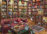 Puzzle 1000Piezas Puzzle para Adultos Rompecabezas De Óptima Calidad Gato De La Biblioteca El Rompecabezas Es Adecuado para Adultos Y Niños.