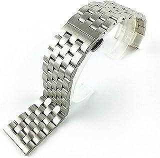 Achket ساعة الصلب الفرقة 18 20 ملليمتر 21 ملليمتر 22 ملليمتر 24 ملليمتر 26 ملليمتر الصلبة الفولاذ المقاوم للصدأ حزام فراشة...