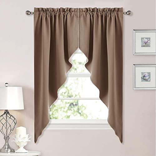 . Living Room Curtains with Valance  Amazon com