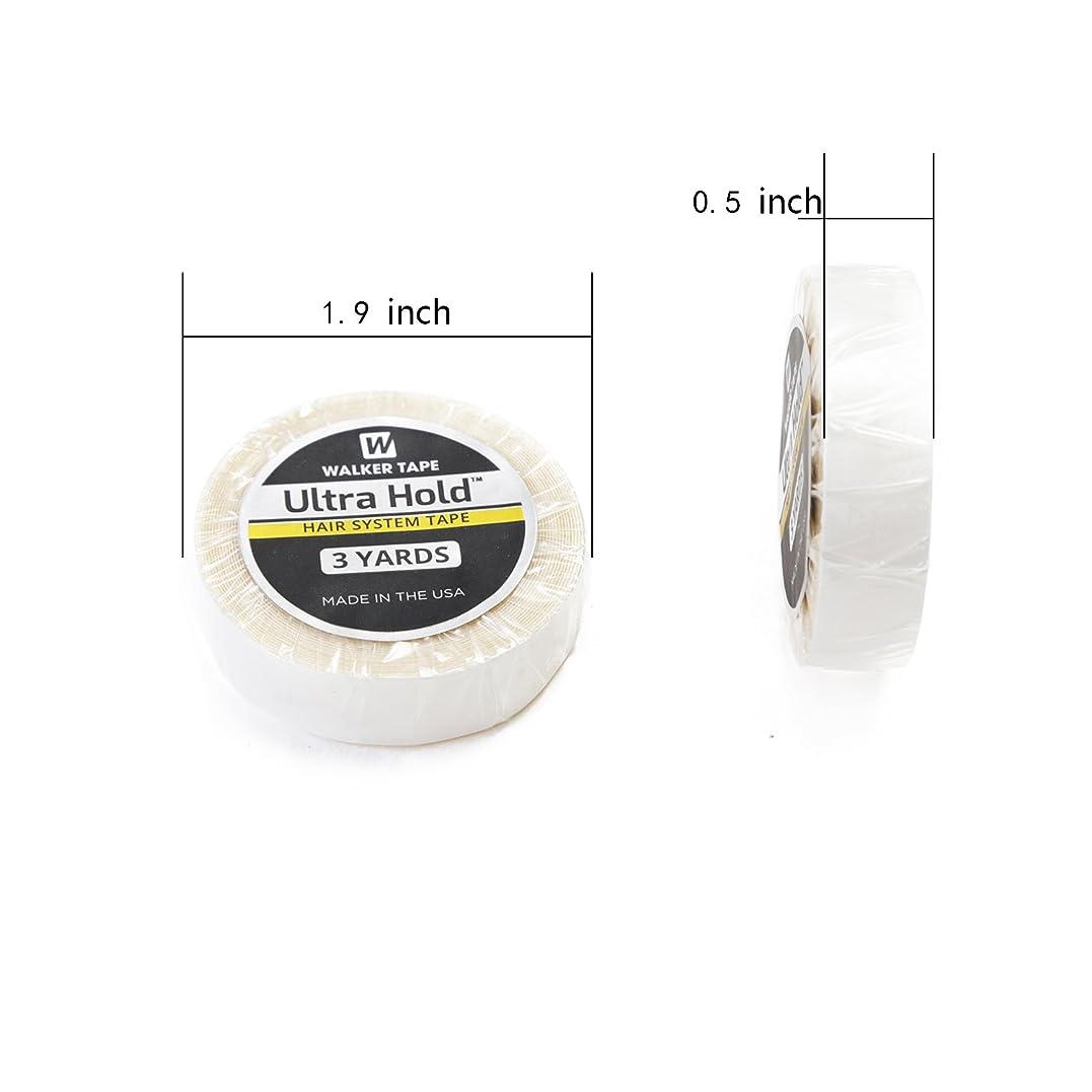 鮫対角線ぴかぴかNeitsi(ネイティス)かつら用両面テープ ウルトラホールドロールテープ ULTRA HOLD TAPE 強力両面テープ ウィッグ用両面テープ 1個1.27cm白