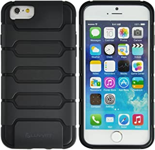 LUVVITT [Armor Shell] iPhone 6 Case / 4.7 inch Screen iPhone Air Armor Case | Double Layer Shock Absorbing Cover - Black/B...