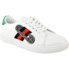 5697ddd3a Fashion Thirsty Shoes. Fashion Thirsty Womens White Flat Stripe Sneakers  Trainers Casual Gym Shoes Size