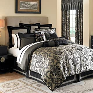 Waterford Bedding, Ormonde King Pillow Sham Gold, Black
