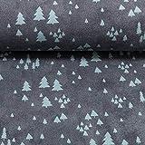 Swafing GmbH Jersey Mini Winter Bäume anthrazit Petrol -