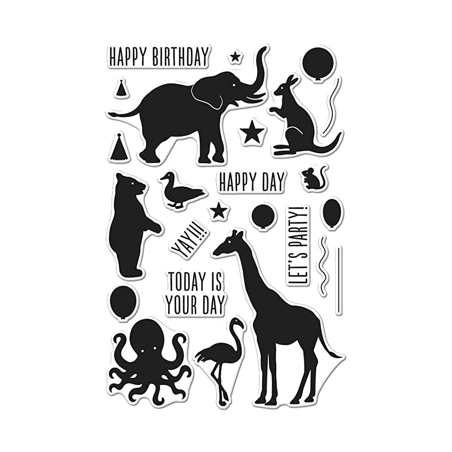 Hero Arts Birthday Animal Silhouettes Photopolymer Stamps
