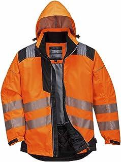 1e00513e7ba Portwest t400obrm Chaqueta Vision impermeable y alta visibilidad, naranja, M