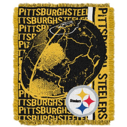 Officially Licensed NFL Pittsburgh Steelers 'Double Play' Jacquard Throw Blanket, 48' x 60', Multi Color