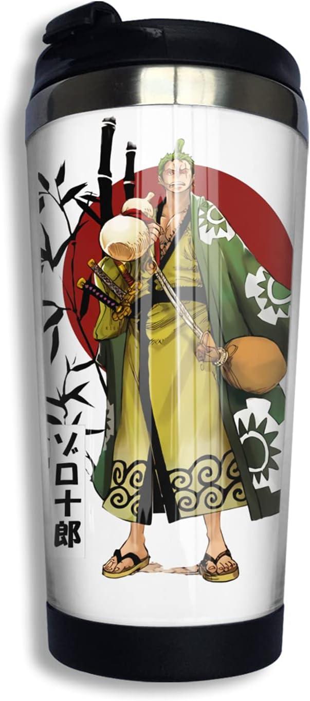 One Piece Samurai Roronoa Zoro Anime Thermos Coffee Industry No. 1 3d Print Cup 5 popular