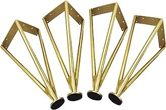 4 Stuks Metalen Tafelpoten,Haarspeldpoten,Metalen Verstelbare Meubelpoten,Bankpoten van Roestvrij Staal,Kastvoeten,Keuken ...