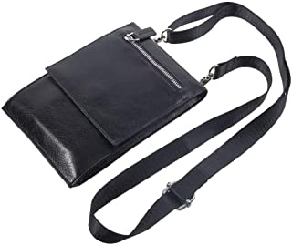 DFV mobile - Case Pocket Shoulder Bag with Lanyard for Tablet and Smartphone with Magnetic Closure and Zippers for Vivo V1...