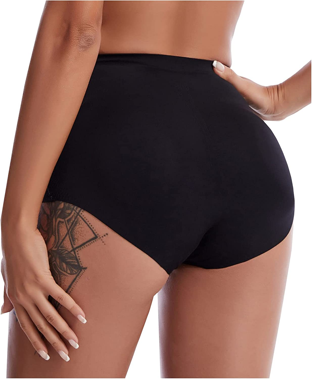 Exposed Buttock Shapewear for Women Tummy Control, Women's Seamless Butt Lifter Body Shaper Pants Sexy Hip Lifting Panties