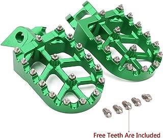 Foot Pegs Footpegs Footrest Pedals Billet MX Wide Aluminum Foot rests For Kawasaki KX125 KX 125 250 KX250 1997-2001 KX500 KX 500 1988-1990 Motorcycle dirt bike Green