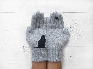 Cat Gloves, Animal Gloves, Unique Gift Idea, Valentine's Day Gift