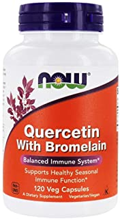 NOW Foods - Quercetin with Bromelain - 120 Vegetable Capsule(s)