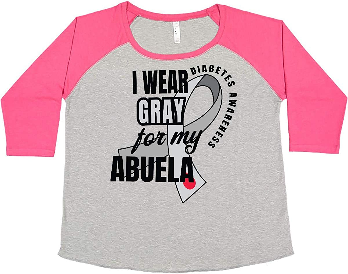 inktastic Diabetes Awareness I Wear Gray Abuela Women's for Max 88% OFF price My P