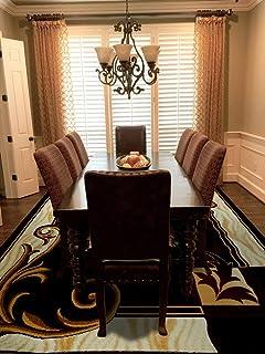 Al Salem Carpet Super Sabah Collection Carpet Classic Tradition Area Rug 060 CM X 110 CM Brown
