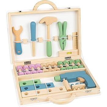 Yavso Werkzeugkoffer Kinder Holz, 35Pcs Kinder Werkzeug