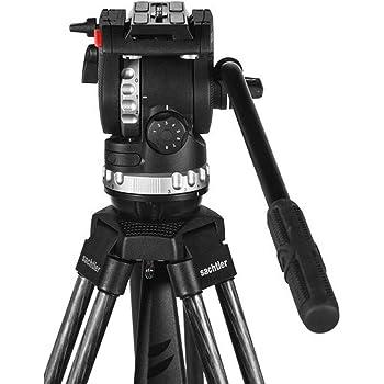 75mm Ball Sachtler FSB 6T Pro Video Fluid Head, Touch /& Go Plate DV /& Single Pan Bar 3+3 Damping