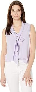 Calvin Klein Women's Sleeveless Tie Neck Top