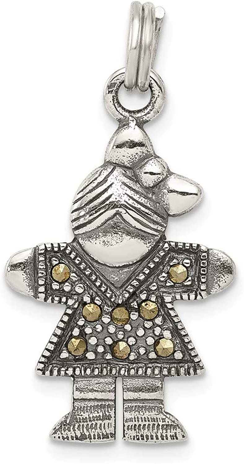 Beautiful Sterling silver 925 sterling Sterling Silver Girl Charm
