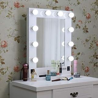 LUVODI Espejo de Tocador con Luces Espejo Hollywood Maquillaje EspejoMesaMaquillaje con Bombillas para Tocador Dormitori...