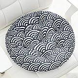 jHuanic 2 cojines redondos para silla de 8 cm de grosor, cojines de asiento para silla de interior y exterior, almohadillas suaves para sillas de comedor para jardín, hogar, oficina (50 x 50 cm, E)