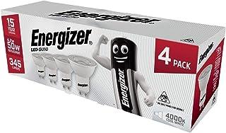 Energizer Modern LED Energy Saving Lightbulb, GU10, 4.2W, Cool White, 4 Pack (New 2020 Model)