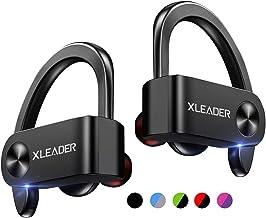 XLEADER SoundAngel Sports 3 (3 Gen) True Wireless Earbuds, Bluetooth 5.1 Headphone in Ear with Charging Case, IPX7 Waterproof TWS Earphones Premium 3D Bass Headphones for Sports Running Workout Black