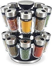 Cole & Mason Premium Herb & Spice Carousel 16 Jar Set, Silver/Clear, 31513