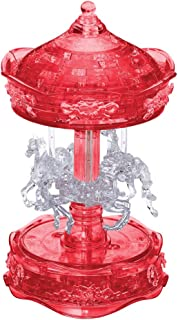 3D Crystal Puzzle - Carousel (White/Red): 83 Pcs