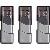 3-Pack PNY Turbo 64GB USB 3.0 Flash Drive (P-FD64GTBOP-GE)