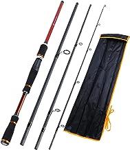 Kayla Store 4 Sections Portable Baitcasting Fishing Rod 210/240/270cm Length Carbon FiberFishing Rod Fishing Tackle De Pesca