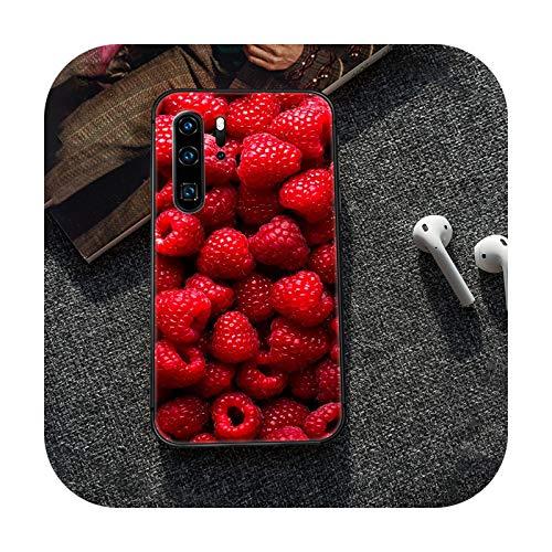 Caricaturas frescas lindas frutas teléfono caso caso caso caso caso caso caso para Huawei P8 P9 P10 P20 P30 P40 Lite Pro Plus smart Z 2019 negro Coque Trend-9-P30 Lite