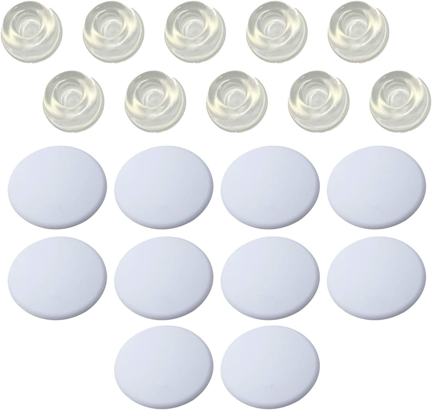Max 69% OFF Strongest Ranking TOP17 Wall Door Stop Set- 10 Soft Silicone B of White Pieces