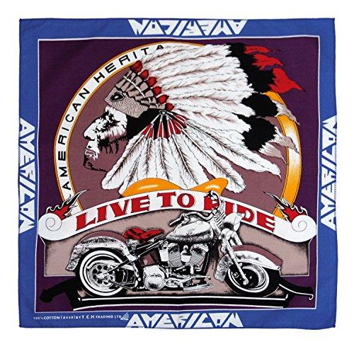 American Live To Ride Chopper Moto Bandana Bandana